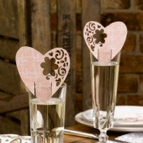 With Love Design Pink Place Cards (10)
